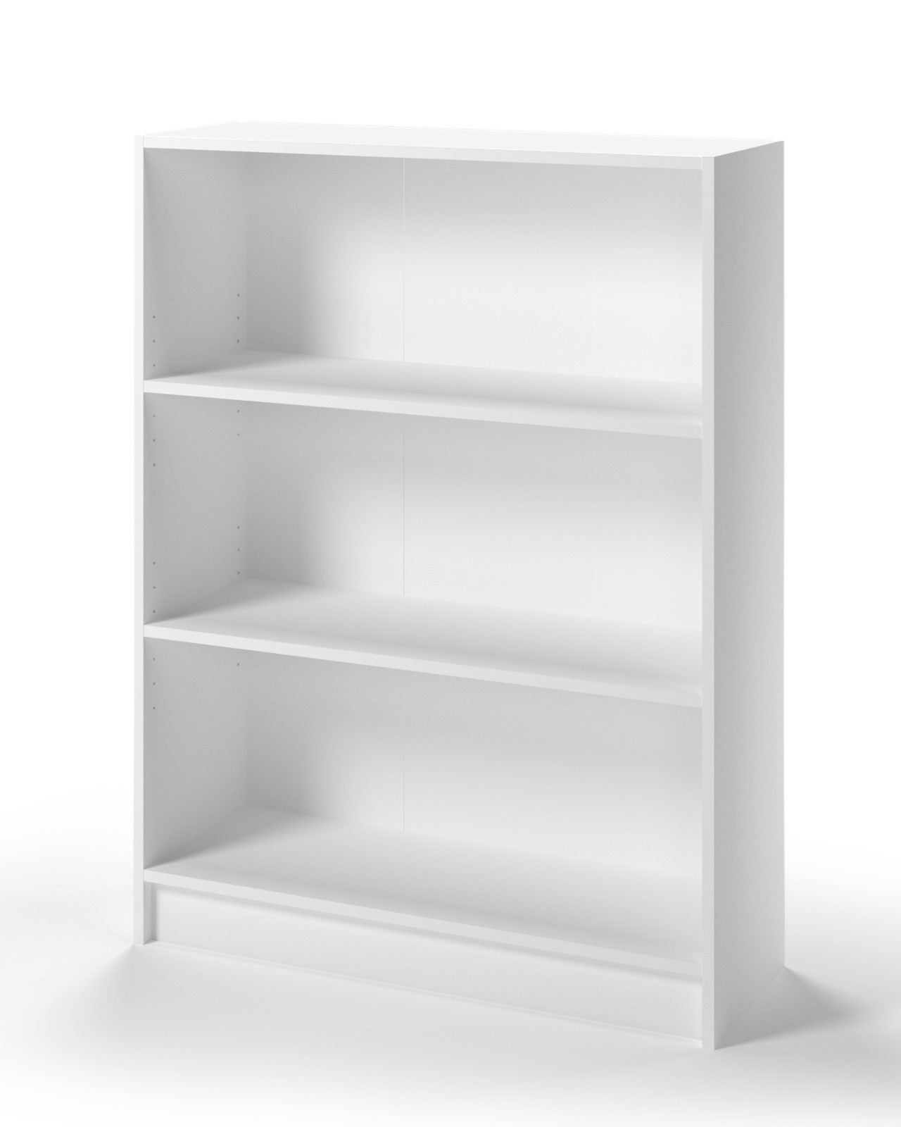 essentials low bookcase with 3 shelves white y1 furniture. Black Bedroom Furniture Sets. Home Design Ideas
